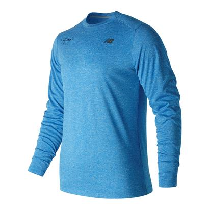 Men`s Long Sleeve Tech Tennis Tee Electric Blue Heather