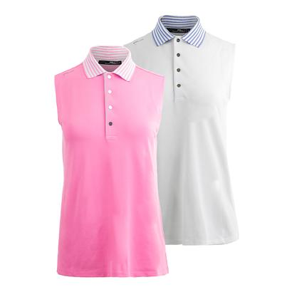 Women`s Striped Collar Tennis Polo