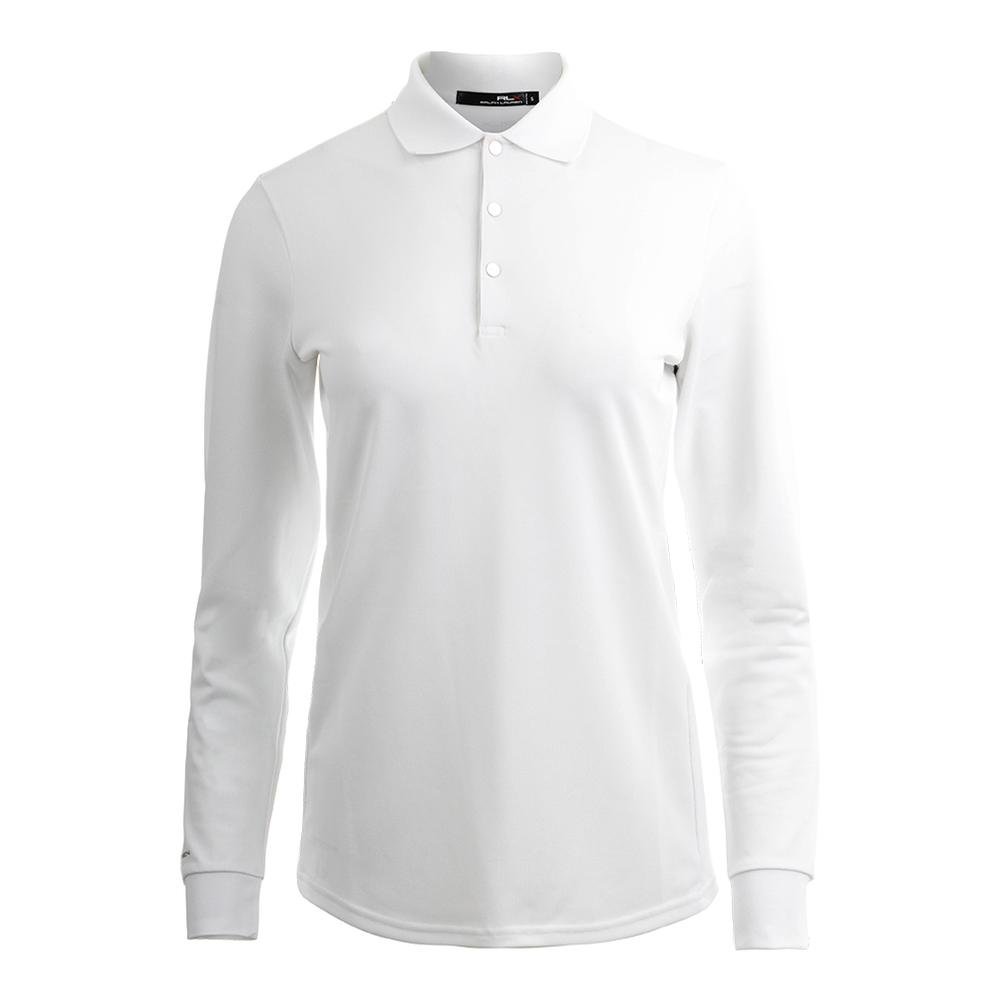 Women's Long Sleeve Tournament Tennis Polo Pure White