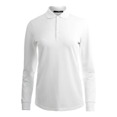 Women`s Long Sleeve Tournament Tennis Polo Pure White