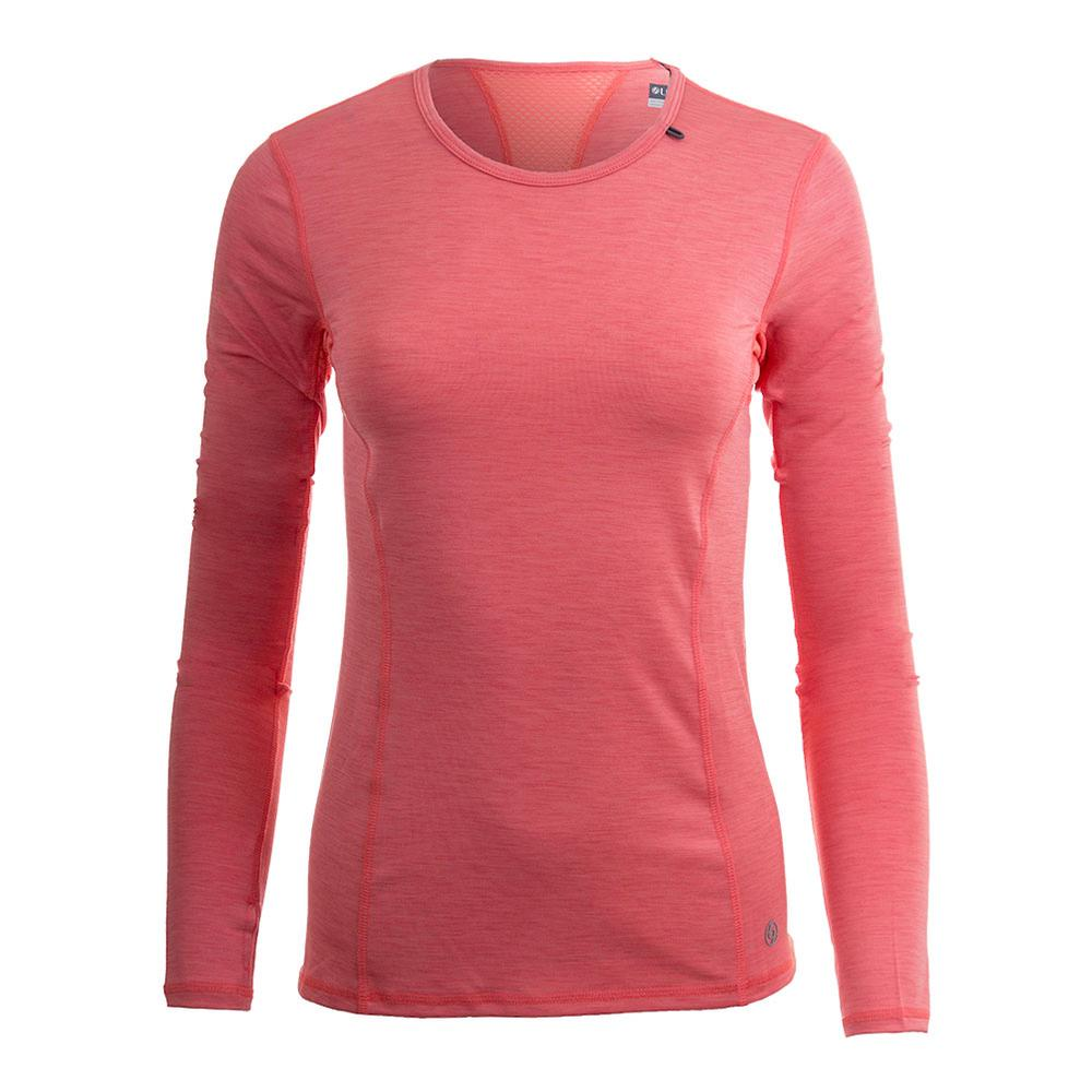 Women's Interval Long Sleeve Tennis Top Guava