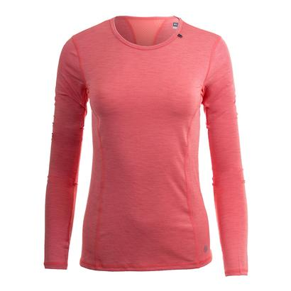 Women`s Interval Long Sleeve Tennis Top Guava