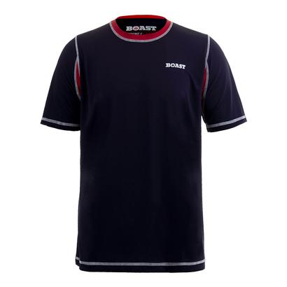 Men`s Court Tennis Crew Tee Navy and Red