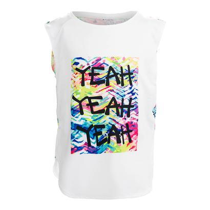 Girls` Yeah Tennis Tank Print