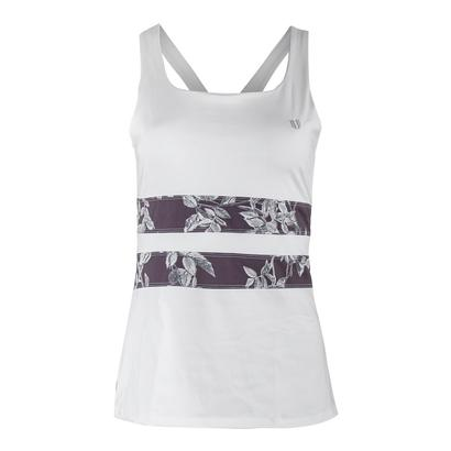 Women`s Excel Tennis Tank White