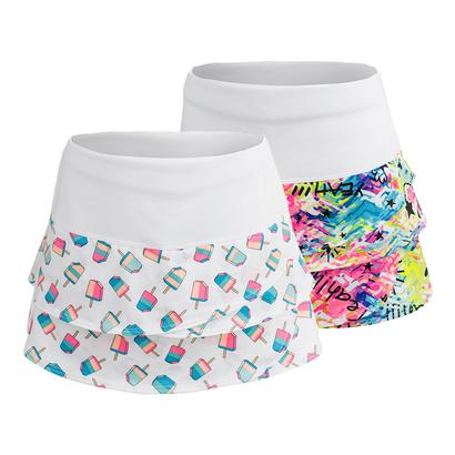 Girls` Scallop Tennis Skort