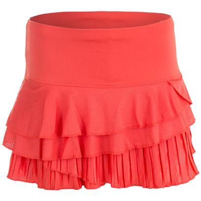 Women`s Rally Pleat Tier Tennis Skort Flame