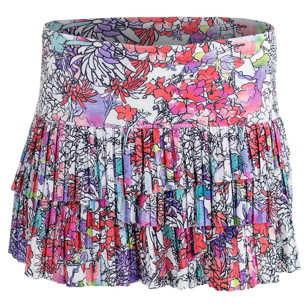 Women's Picture Perfect Pleat Scallop Tennis Skort Print