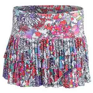 Women`s Picture Perfect Pleat Scallop Tennis Skort Print