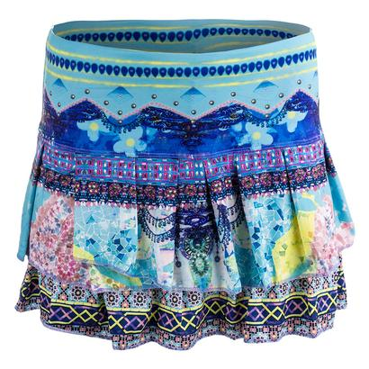 Women`s Festival Pleat Tier Tennis Skort Print