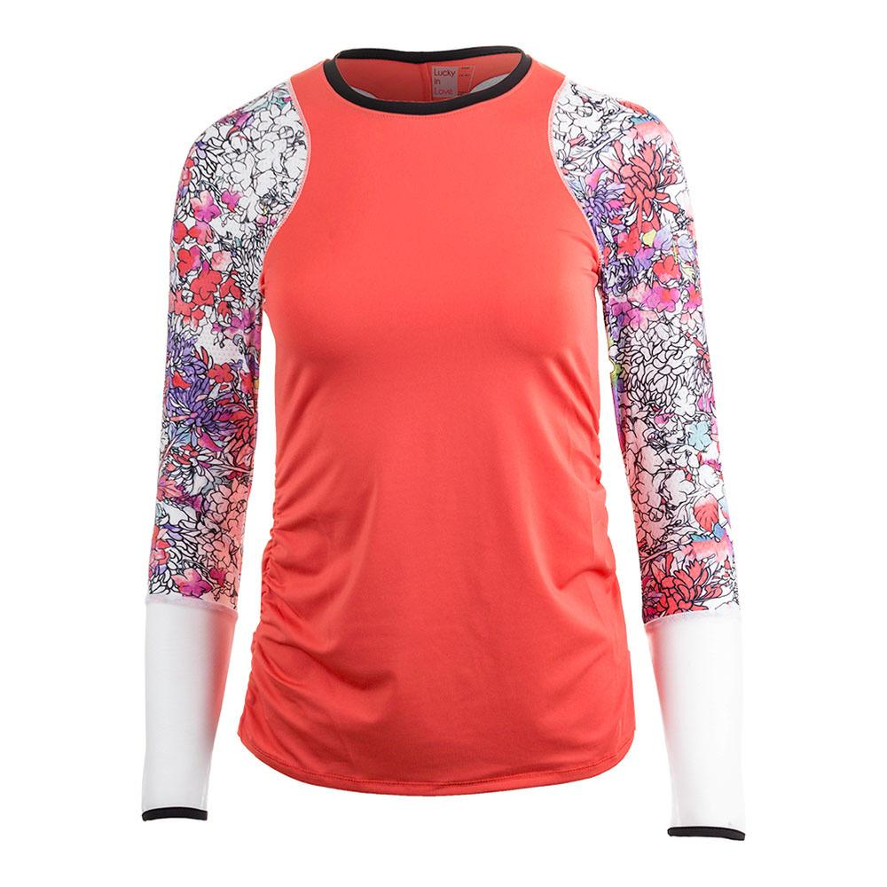 Women's Long Sleeve Tennis Crew Flame