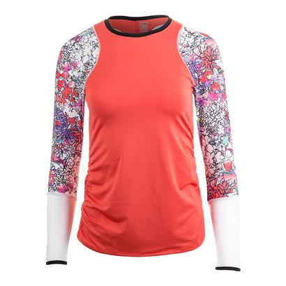 Women`s Long Sleeve Tennis Crew Flame