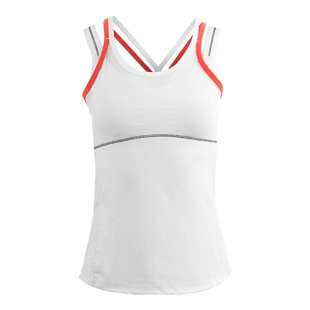 Women's Criss- Cross Mesh Tennis Cami White