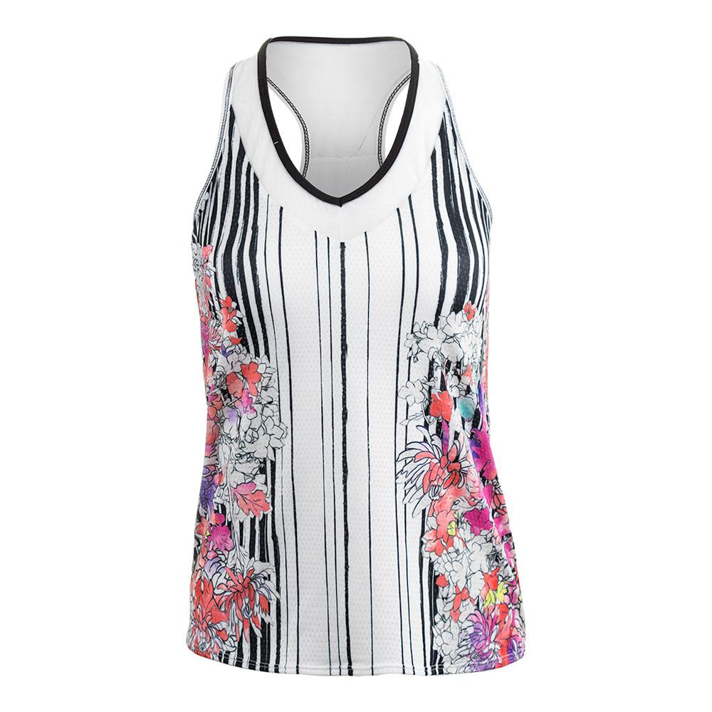 Women's Outside The Lines Tennis Tank Print
