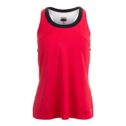 Women`s Dominique Racerback Tennis Tank Bolle Red