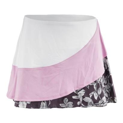Women`s Triple Threat Tennis Skort Datura Print and Pink