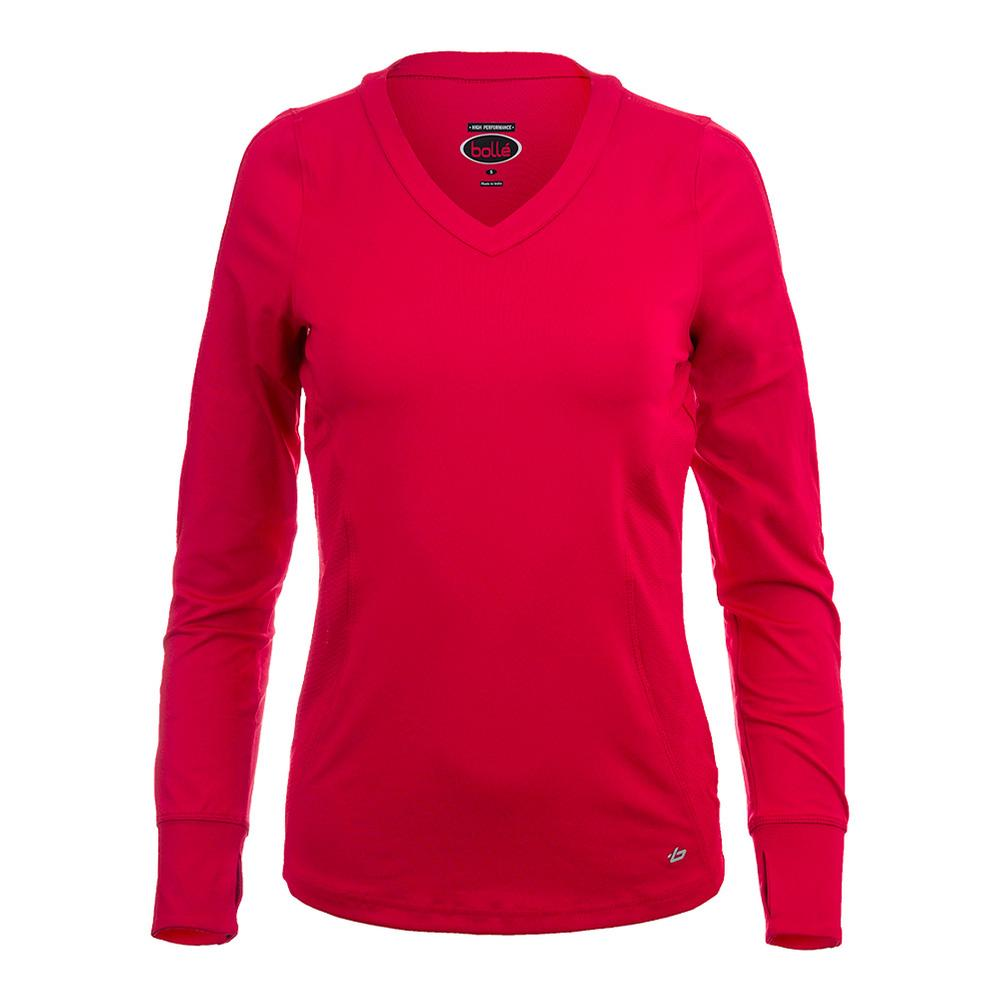Women's Dominique Long Sleeve Tennis Top Bolle Red