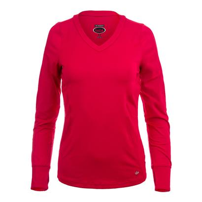 Women`s Dominique Long Sleeve Tennis Top Bolle Red