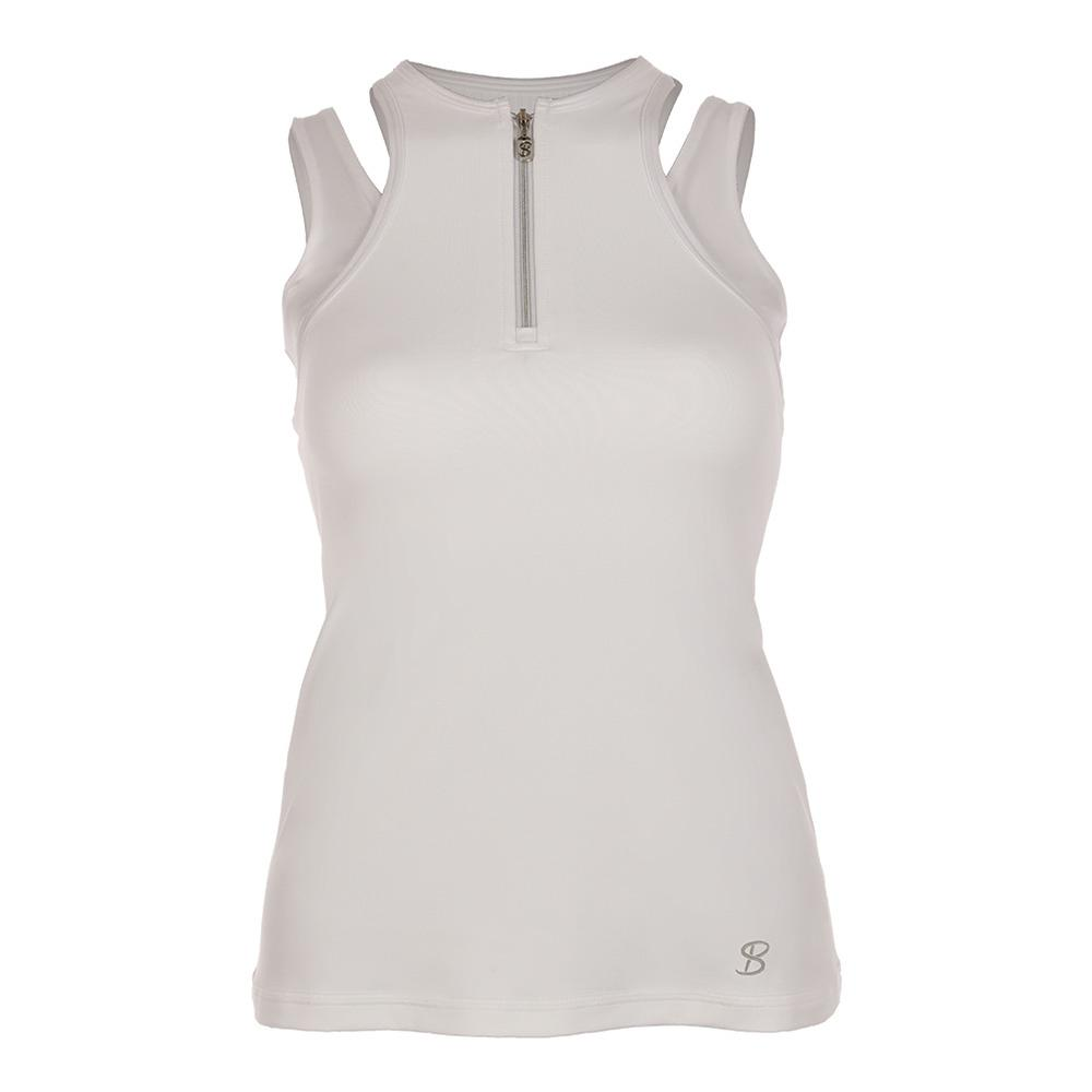 Women's Athletic Tennis Tank White