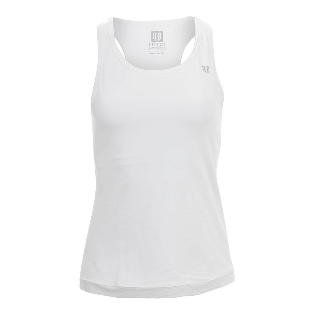 Women's Ashram Tennis Tank White