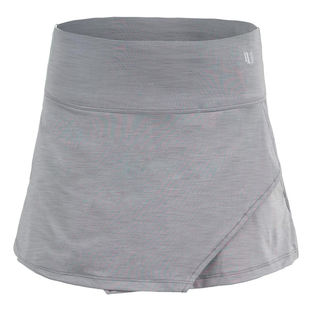 Women's Fly 13 Inch Tennis Skort Frost Gray