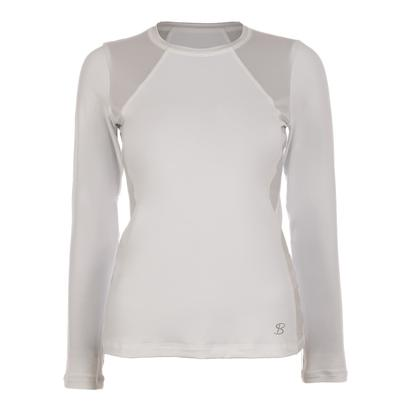 Women`s Classic Long Sleeve Tennis Top White