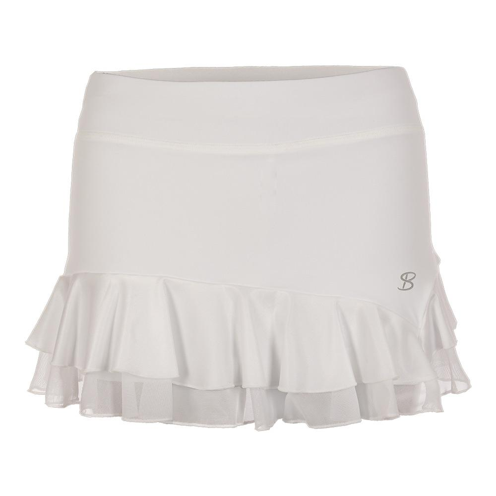 Women's 12 Inch Tennis Skort White And Pearl White
