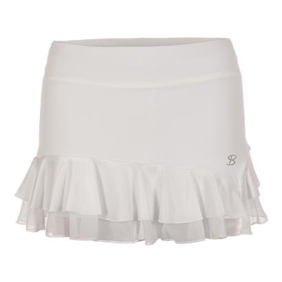 Women`s 12 Inch Tennis Skort White and Pearl White
