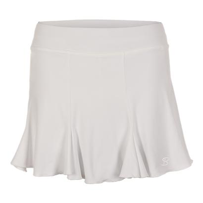 Women`s 14 Inch Tennis Skort White