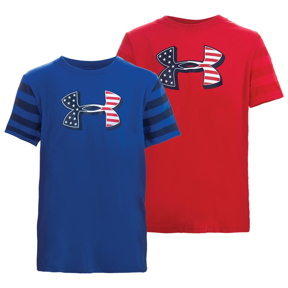 Boys ` Big Logo Flag Tee