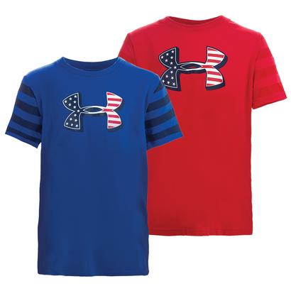 Boys` Big Logo Flag Tee