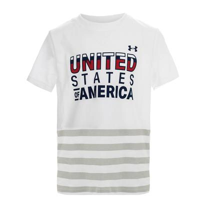 Boys` USA Short Sleeve Tee White