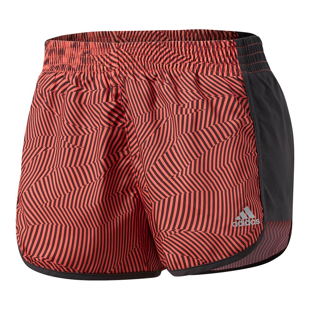 Women's 100m Dash Woven Short Easy Coral