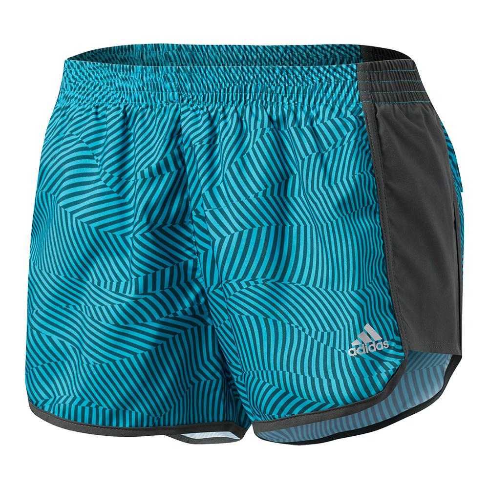 Women's 100m Dash Woven Short Energy Blue