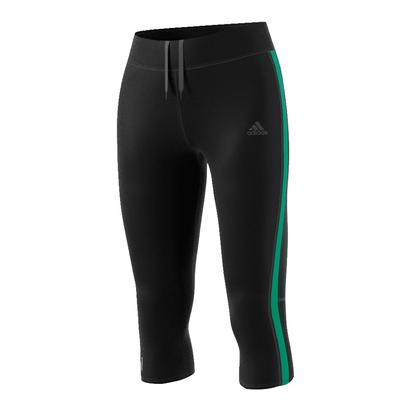 Women`s Response 3 Quarter Tight Black and Core Green