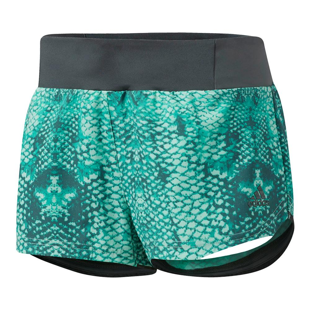 Women's Supernova Glide Sim Short Easy Green Boost Print