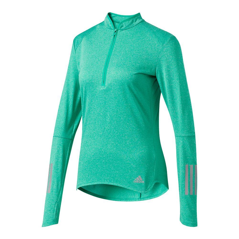 Women's Response Half Zip Long Sleeve Tee Core Green