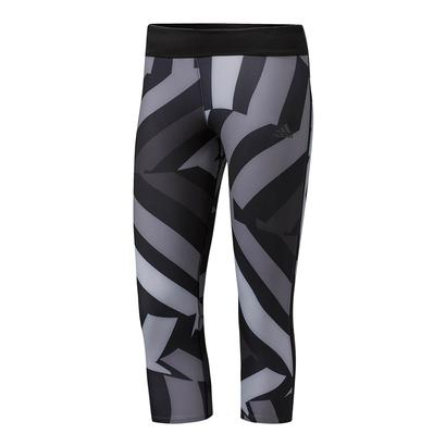 Women`s Response 3 Quarter Tight Energy Print Black
