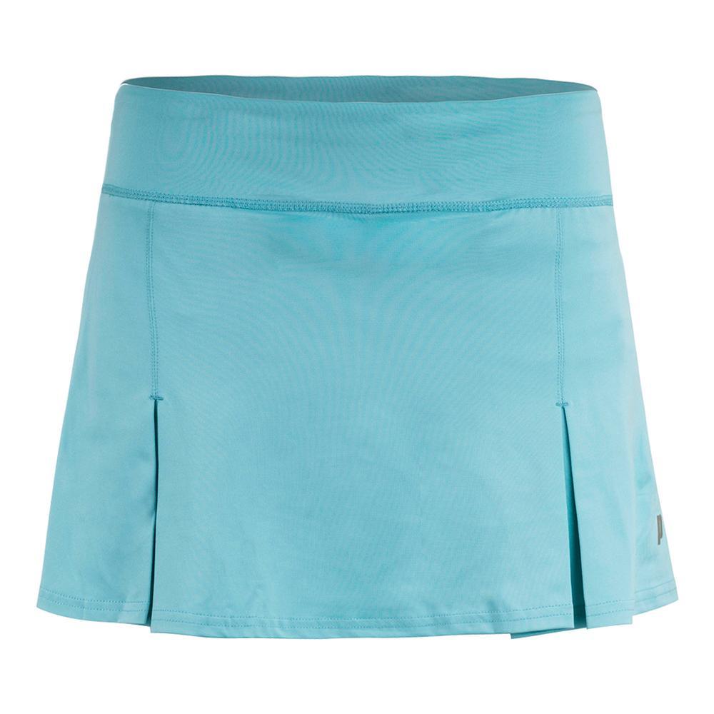 Women's 11 Inch Poly Spand Knit Tennis Skort Blue Radiance