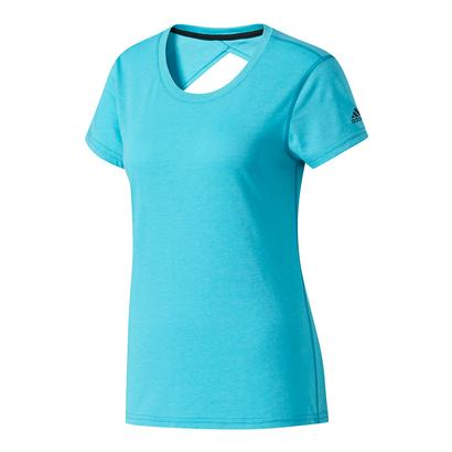 Women`s Ultimate Keyhole Tee Energy Blue