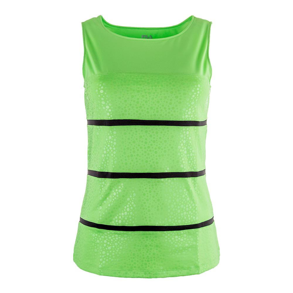 Women's Spotlight Full Coverage Tennis Tank Lime Tonic And Black