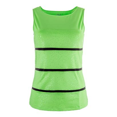 Women`s Spotlight Full Coverage Tennis Tank Lime Tonic and Black