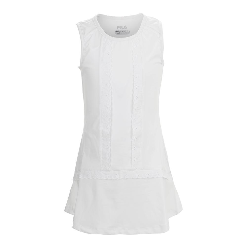 Girls ` Lace Tennis Dress White