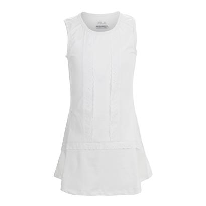 Girls` Lace Tennis Dress White