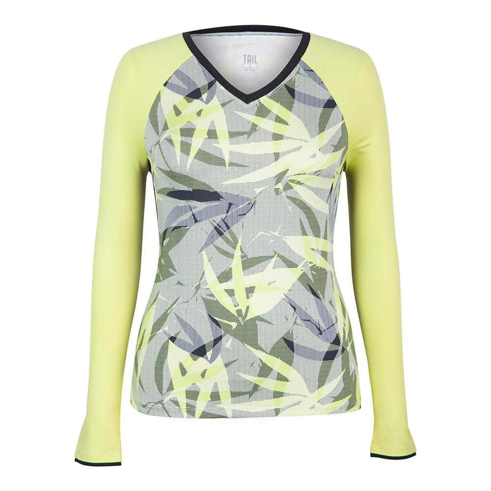 Women's Patrice Long Sleeve Tennis Top Intrigue Chartreuse