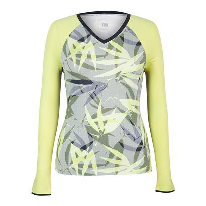 Women`s Patrice Long Sleeve Tennis Top Intrigue Chartreuse