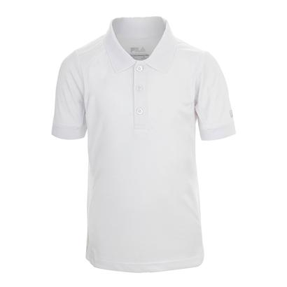 Boys` Fundamental Tennis Polo White