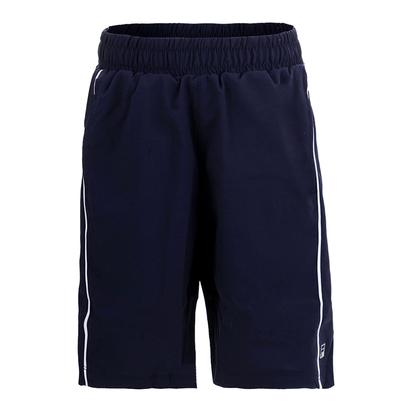 Boys` Fundamental Piped Tennis Short Navy and White