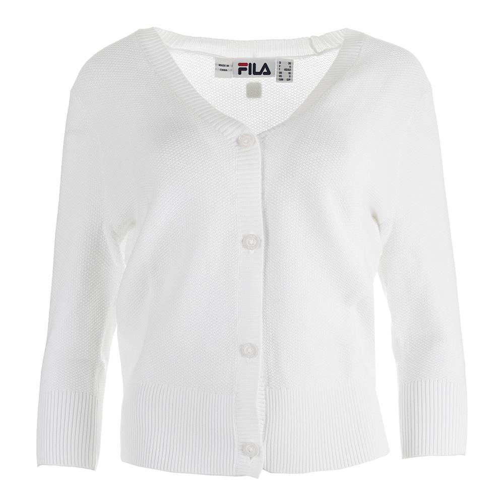 Women's Lawn Tennis Cardigan White