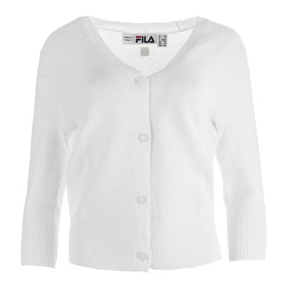 Women`s Lawn Tennis Cardigan White